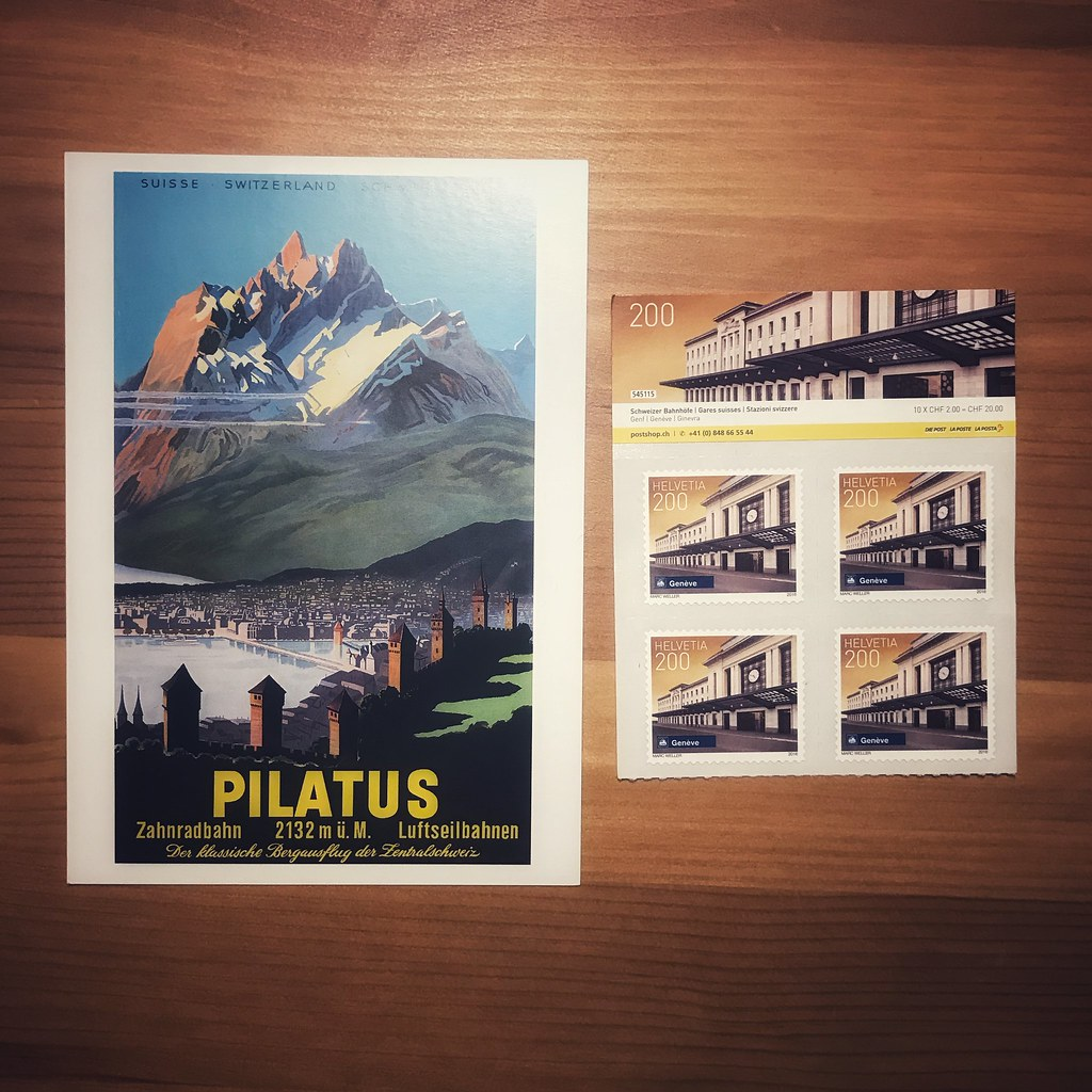 Postcards sent from Switzerland