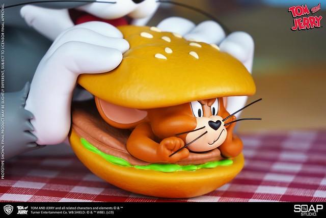 今天漢堡加料啦~~ Soap Studio《湯姆貓與傑利鼠》湯姆貓與傑利鼠漢堡包 Tom and Jerry Burger 半身胸像作品