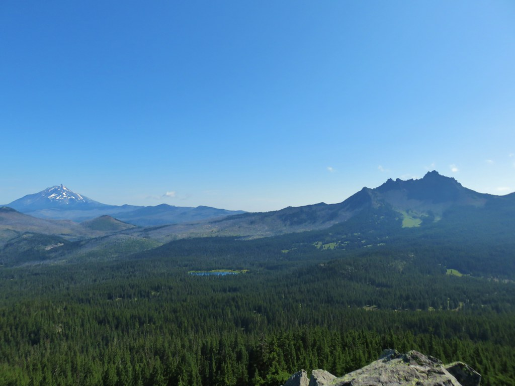 Mt. Jefferson, Santiam Lake, and Three Fingered Jack from Maxwell Butte