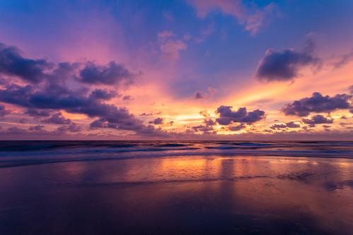 portstjoe florida unitedstatesofamerica capesanblas ocean beach gulfofmexico sunrise sunset sun sky clouds vividcolors nature water reflections sand beautiful