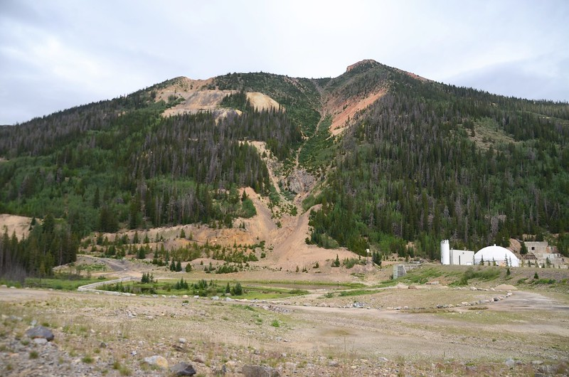 Red Mountain & Urad Mine from Ruby Gulch Trailhead (2)