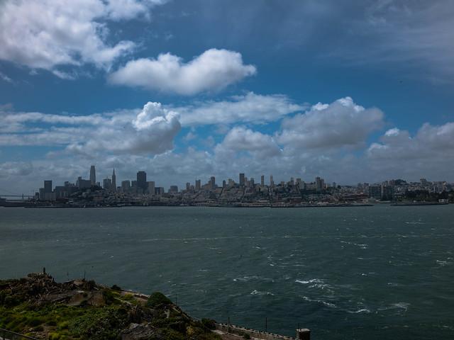 San Francisco skyline from Alcatraz Island