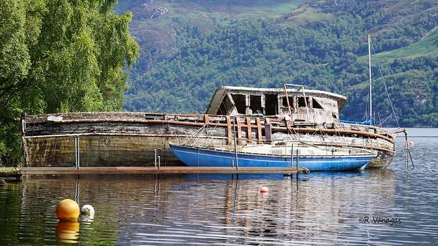 Abandoned boat_ Loch Ness Lake_ Scotland