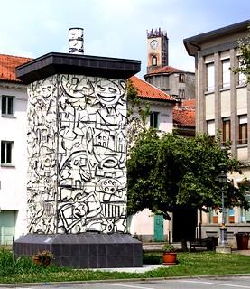 Castellamonte (TO) - Monumento alla Stufa (Ugo Nespolo)