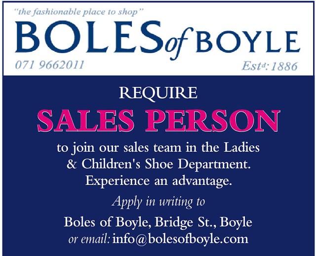 Boles of Boyle - Job Opportunity