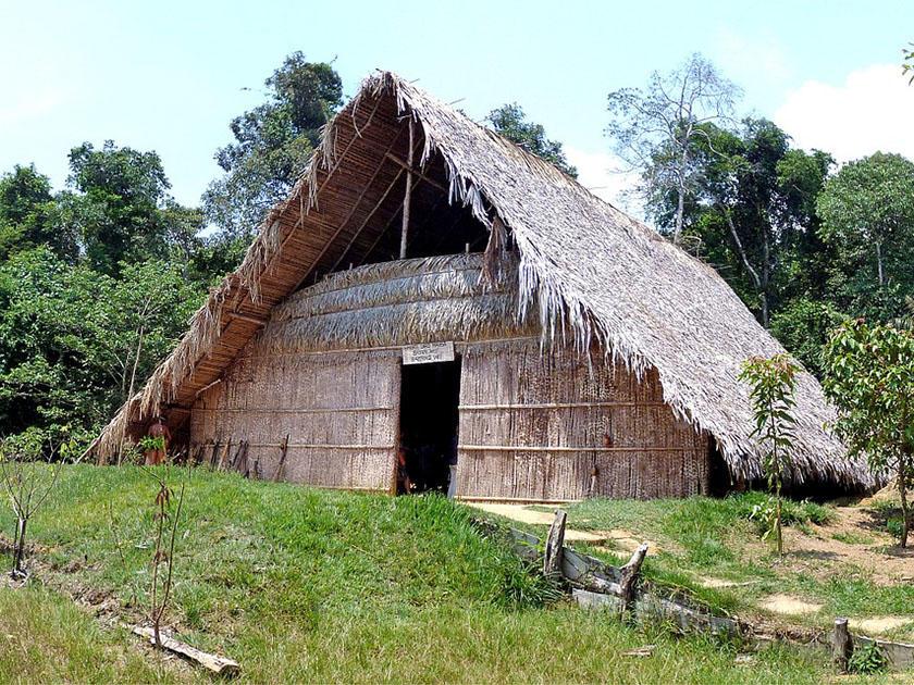 традиционно аяваска-ретриты проводятся в скромных хижинах в джунглях