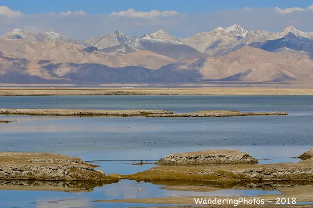 Chatyr Kul Lake - Celestial Lake - with the surrounding Tian Shan Mountains - Torugart Pass Kyrgyzstan