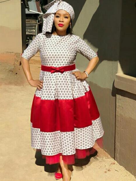 Beautiful Shweshwe Mixed Dresses For Woman