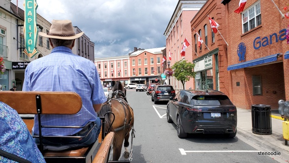Horse wagon ride in downtown Port Hope