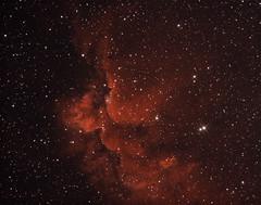 Wizard nebula NGC7380 Ha/OIII