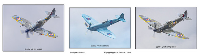 Trio of Spitfires - Flying Legends Duxford July 2019