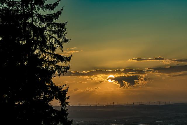 Sonnenuntergang über dem Hunsrück