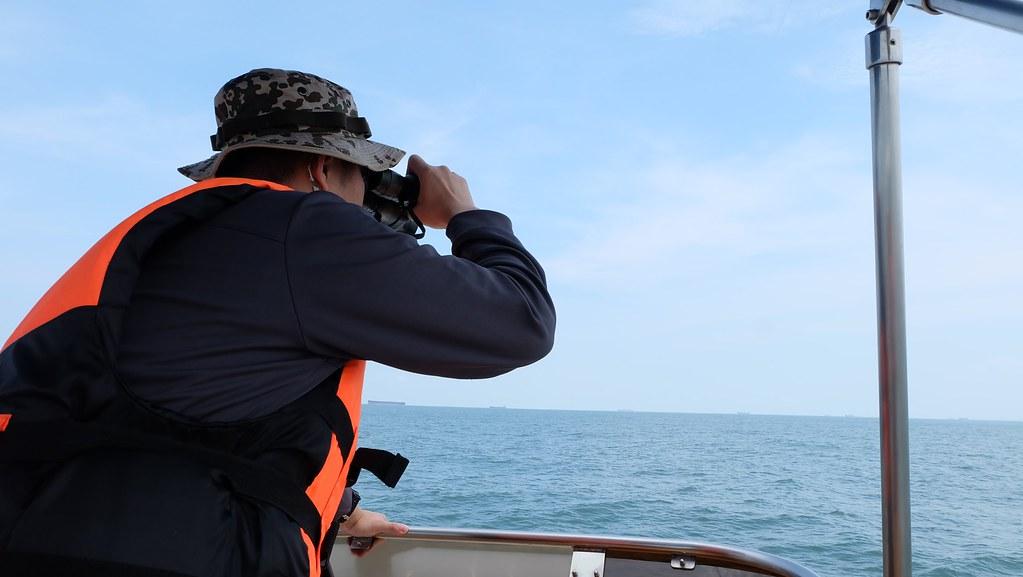 鯨豚觀察員海上培訓課程。攝影:陳文姿