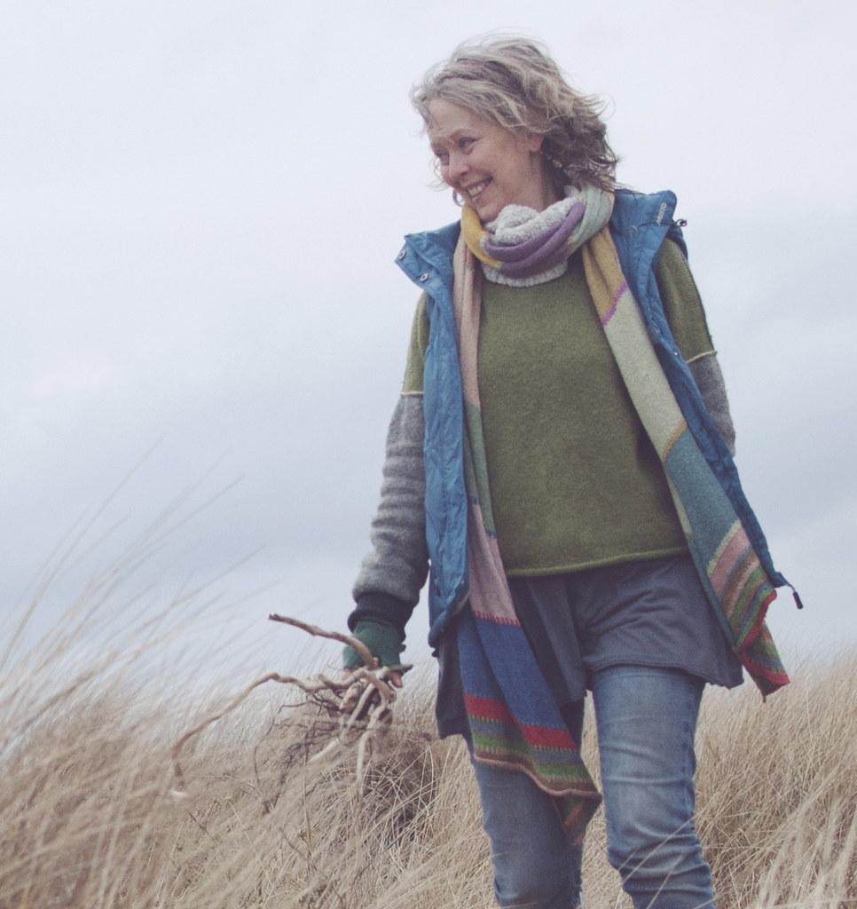 Brigit Strawbridge Howard on sand dunes