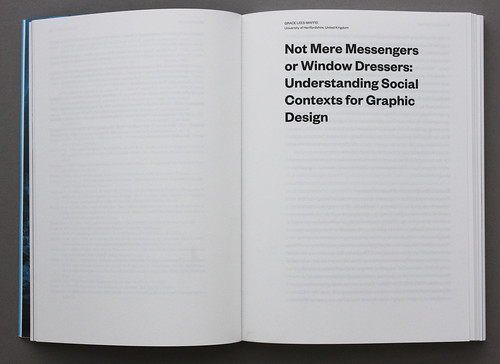 Spread from Unfrozen – a Design Research Reader by the Swiss Design Network