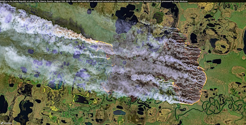 Wildfire in the Sakha Republic at about 71°N, Siberia, Russia - August 12th | by Pierre Markuse