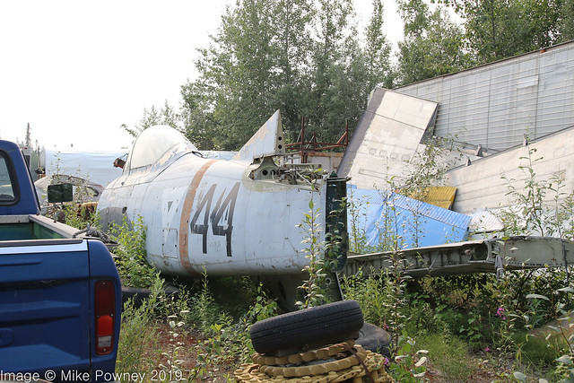 N129DR - 1951 build North American T-28A Trojan, in long term storage at Chena Marina
