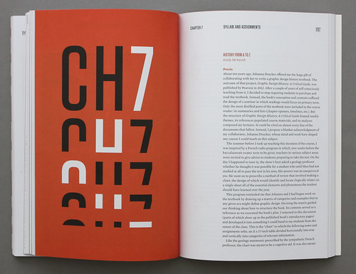 Spread from Teaching Graphic Design History