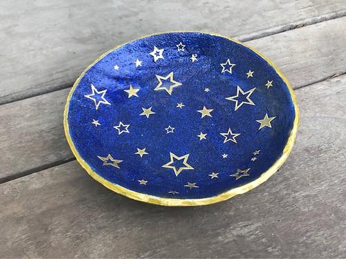 Star ring dish/trinket bowl in my Etsy shop https://www.etsy.com/your/shops/ArtsyKarma/tools/listings?ref=seller-platform-mcnav