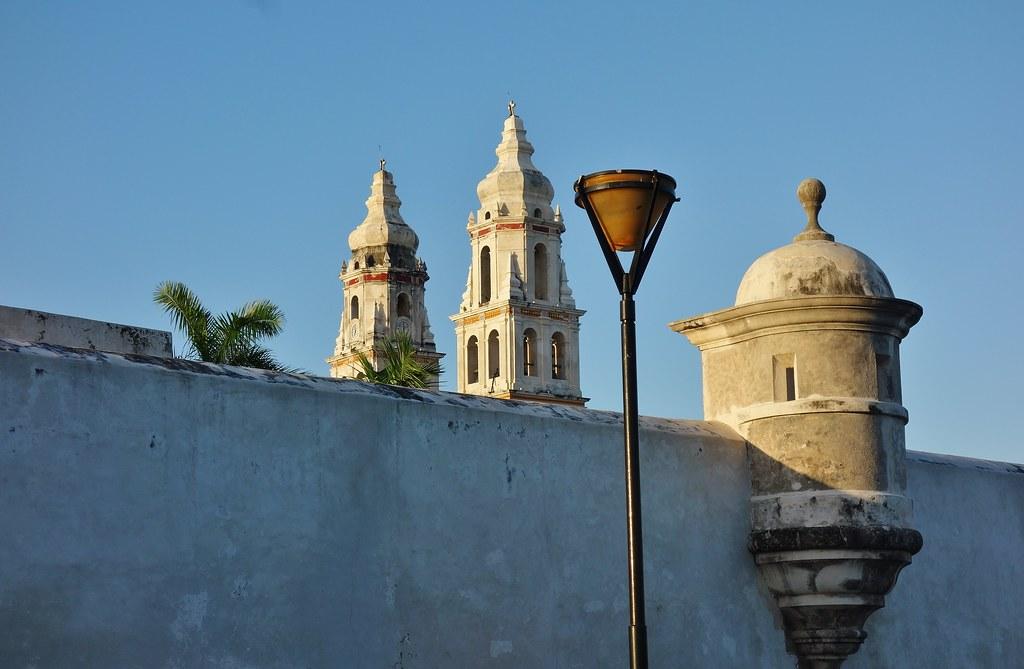 MEXICO, frühmorgens in Campeche , Kathedrale La Concepción,  19190/11858