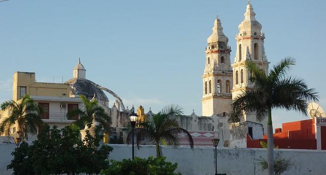 MEXICO, frühmorgens in Campeche , Kathedrale La Concepción, 19189/11857