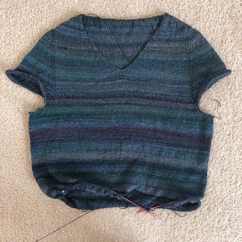 Niamh pullover in handspun