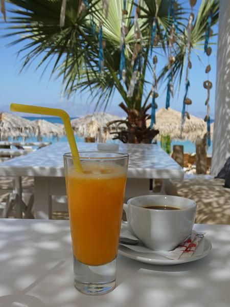 jus d'orange et café