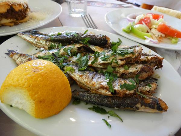 sardines du pirée