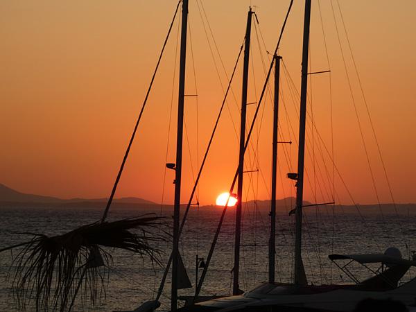 coucher de soleil au Flamingo