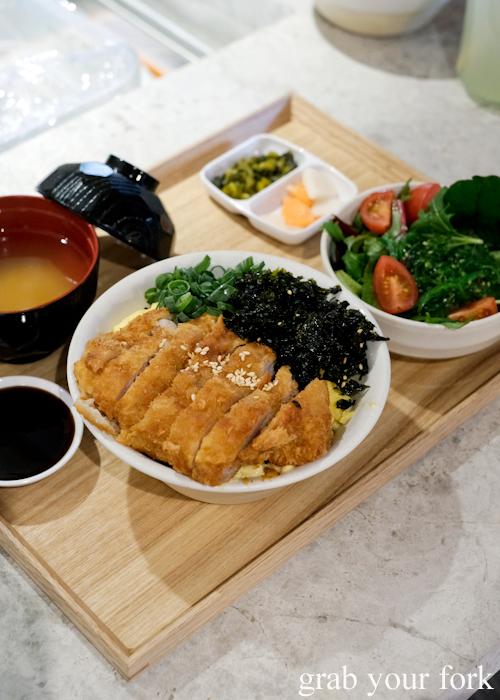 Pork katsu don set at Dopa by Devon in Darling Square Sydney