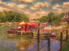 """The puppet theatre"" - River Thames, Richmond"