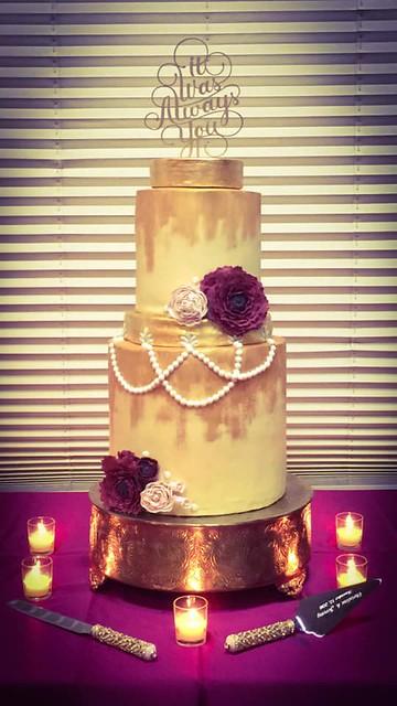Gilded Gadsby Wedding Cake by Audrey Konyha Vigh