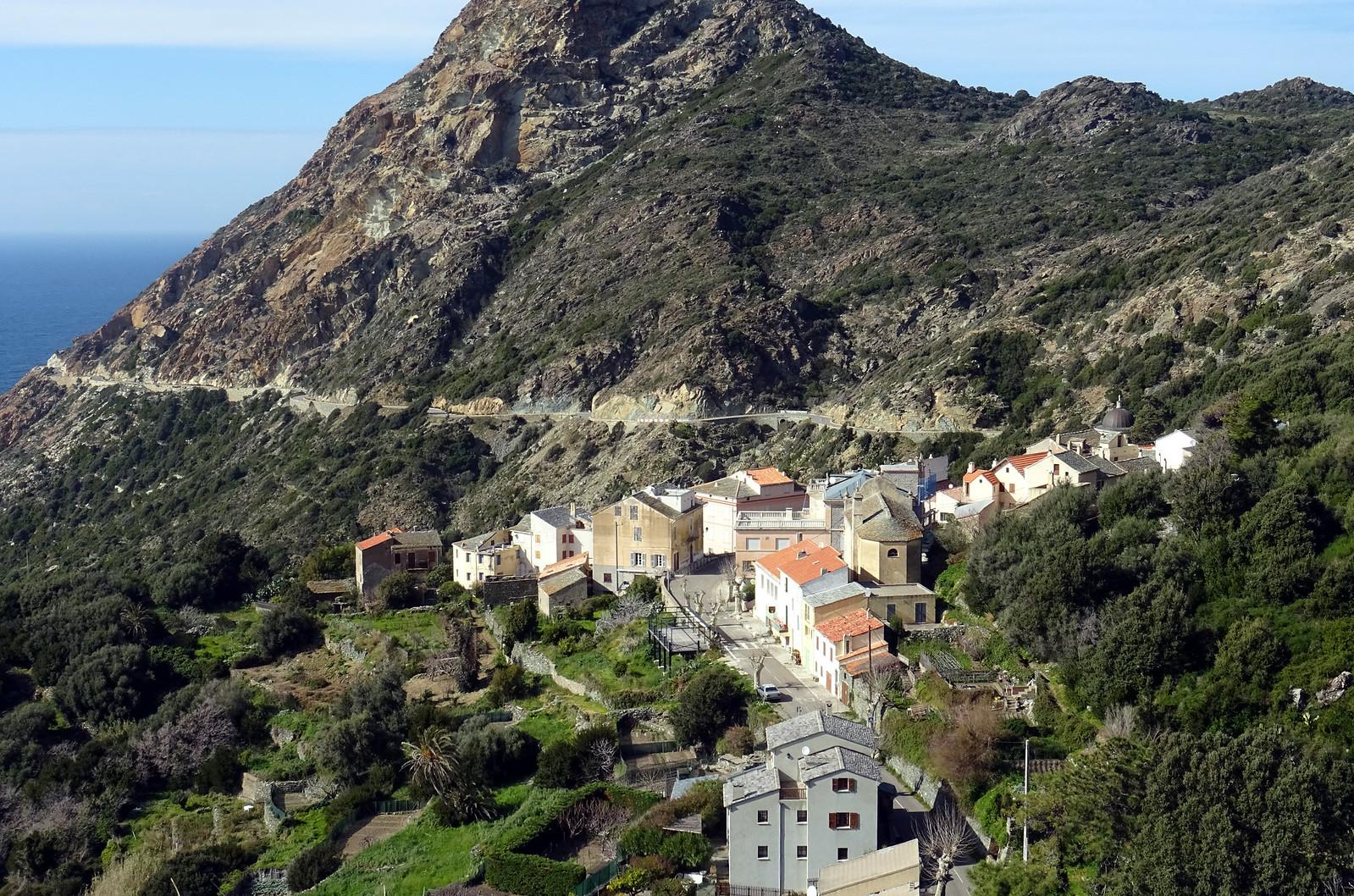 Pino Cap Corse depuis la route de Barrettali