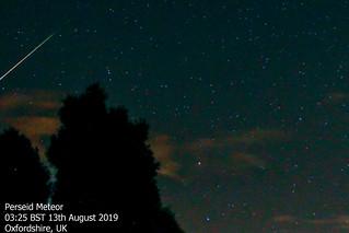 Perseid Meteor 13/08/19