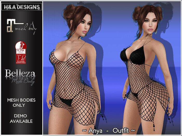 [H&A Designs]-Anya Outfit Black