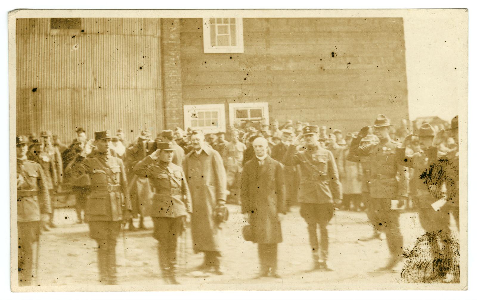 Военный парад на причале