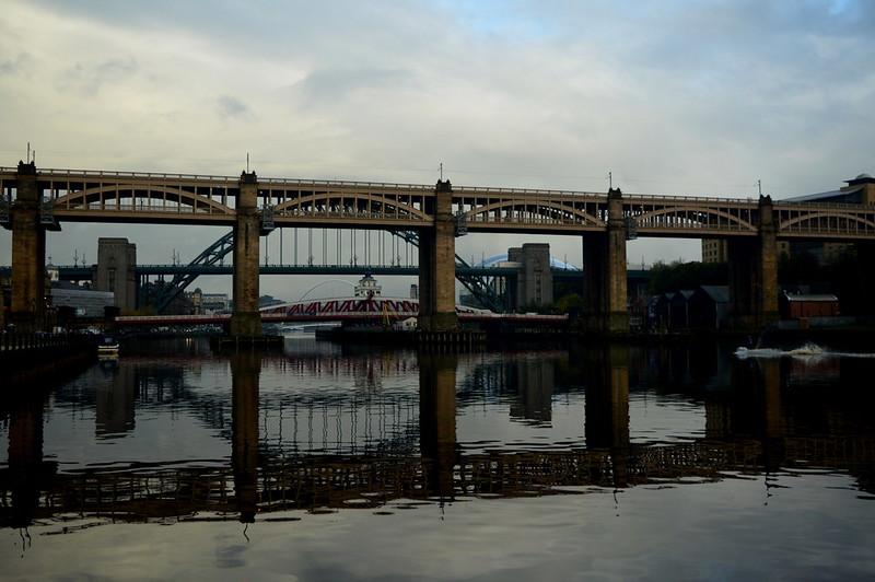 Newcastle, High Level Road Bridge, V