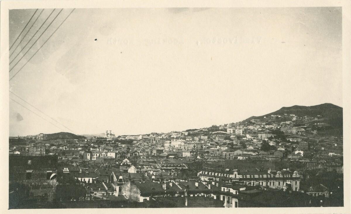 Панорама города с крыши дома