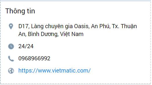 Liên hệ Việt Matic