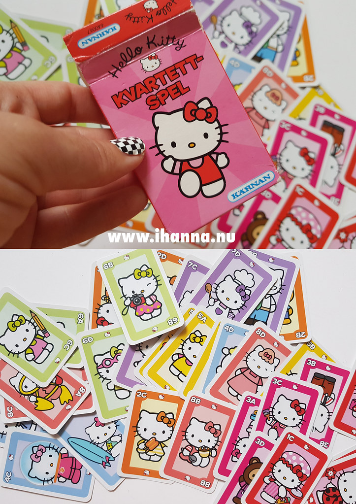 Fun game cards with Hello Kitty - video thrift shop haul by iHanna #junkjournaling