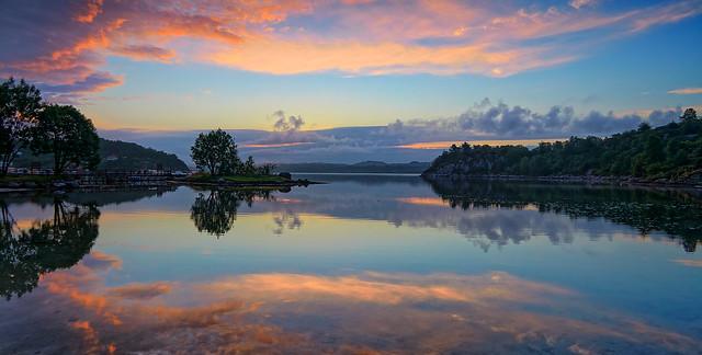 Flat sea, Norway