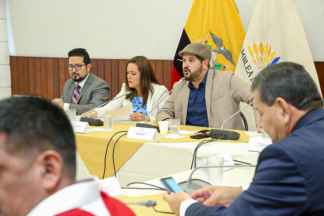 COMISIÓN DE FISCALIZACIÓN RECIBE A LOS PERIODISTAS LUIS EDUARDO VIVANCO DEL MEDIO DIGITAL LA POSTA. QUITO, 13 DE AGOSTO 2019