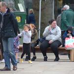 People on the Flag Market at Preston