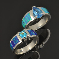 Lab Opal Engagement Rings