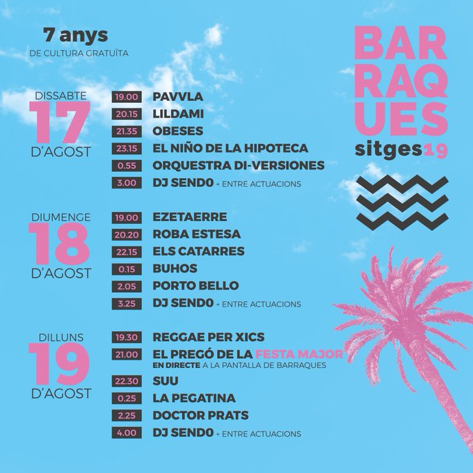 Concerts organitzats per Les Barraques a la Platja de la Fragata