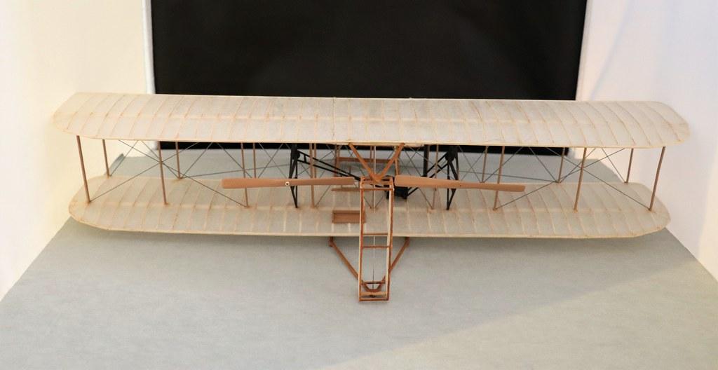 Model: Wright Flyer, Brass plate inside, lower right corne