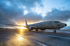 U.S. Navy P-8A Poseidon aircraft from Patrol Squadron (VP) 5 sits on the tarmac at Royal New Zealand Air Force Base Ohakea. (NZDF/Cpl. Naoimi James)