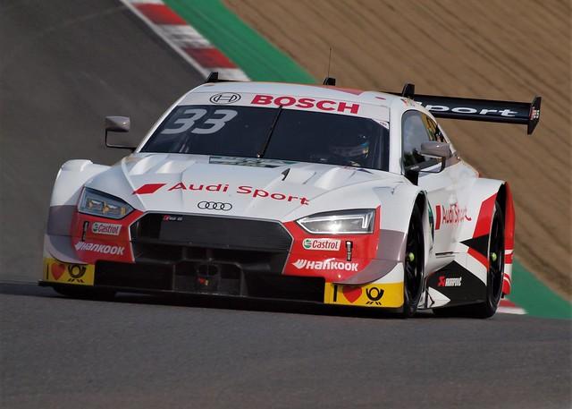 Rene Rast's Rosburg Audi RS5 DTM at Brands Hatch