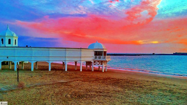 Balneario, playa de la Caleta-Cádiz.