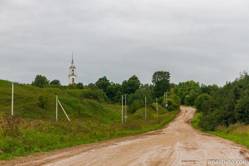 Земляные валы Клещина и церковь Рождества Пресвятой Богородицы в Городище